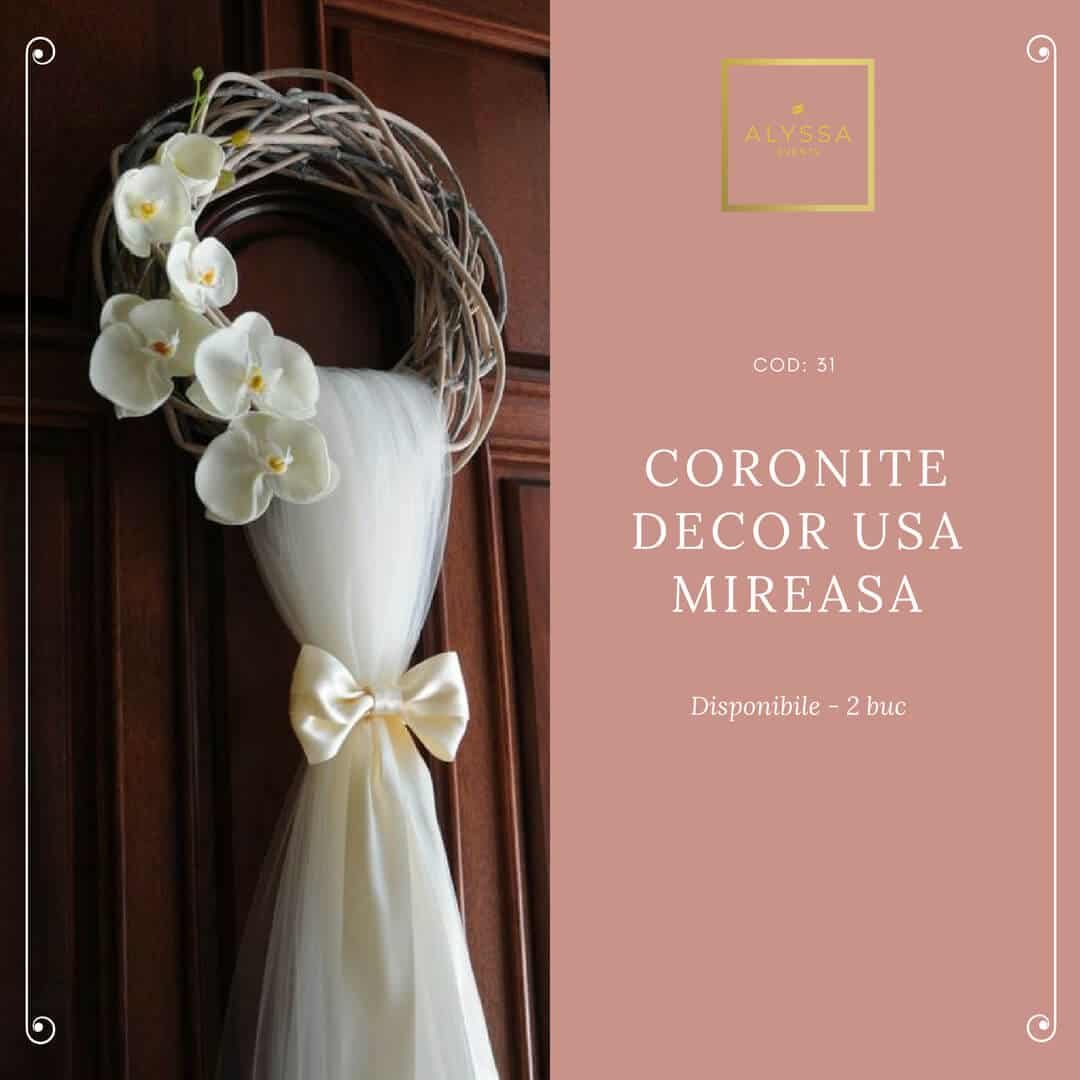 Coronite decor usa mireasa