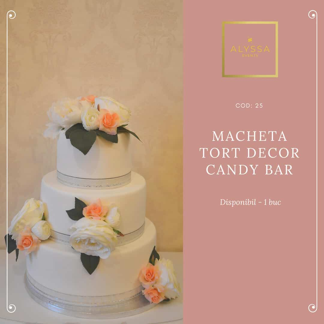 Macheta tort decor - Candy Bar