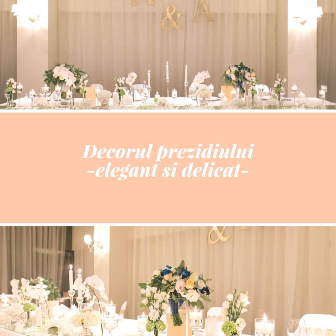 Decoratiuni Evenimente - Decor Prezidiu Nunta by Alyssa Events