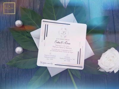 Invitatie nunta argint COD6