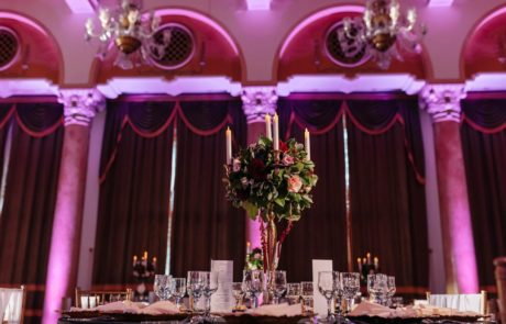 Aranjament sfesnic nunta Casa Armatei Brasov
