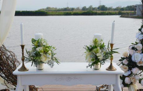 Decor ceremonie nunta in aer liber