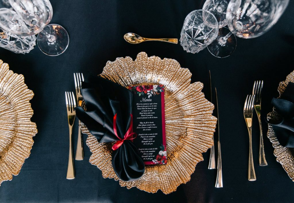 Servet negru nunta