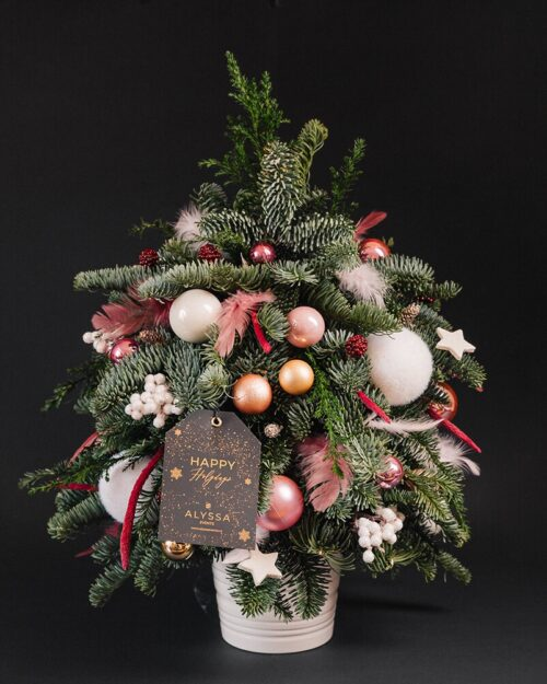 Mini Christmas Tree Pink