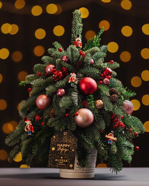 Mini Christmas Tree Red