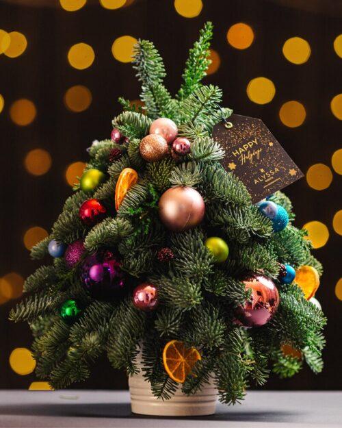 Mini Christmas Tree Colorful