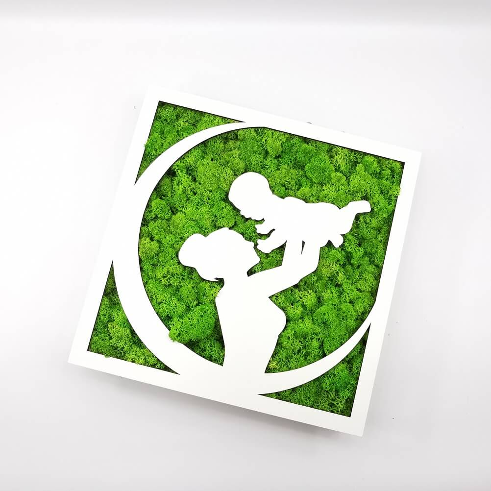 Tablou Licheni - Mom & Baby