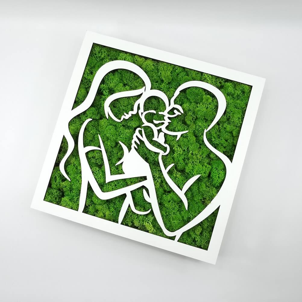 Tablou licheni - Happy Family