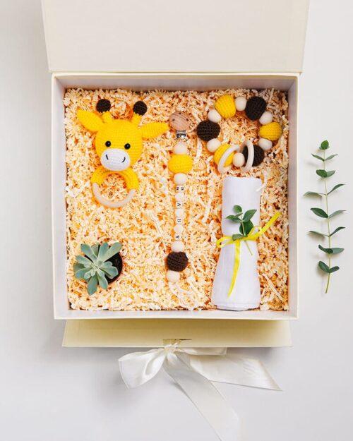 New Baby. Giraffe Giftbox